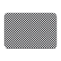 Sports Racing Chess Squares Black White Plate Mats by EDDArt