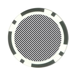 Sports Racing Chess Squares Black White Poker Chip Card Guards by EDDArt