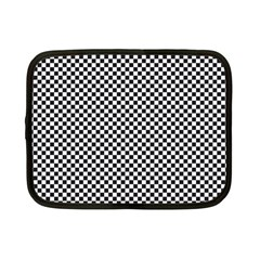 Sports Racing Chess Squares Black White Netbook Case (small)  by EDDArt