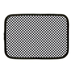 Sports Racing Chess Squares Black White Netbook Case (medium)  by EDDArt