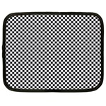 Sports Racing Chess Squares Black White Netbook Case (Large) Front