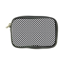 Sports Racing Chess Squares Black White Coin Purse by EDDArt