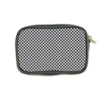 Sports Racing Chess Squares Black White Coin Purse Back