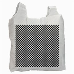 Sports Racing Chess Squares Black White Recycle Bag (two Side)  by EDDArt