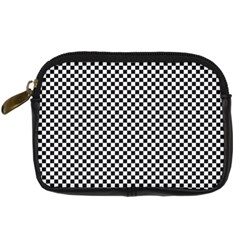 Sports Racing Chess Squares Black White Digital Camera Cases by EDDArt