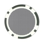 Sports Racing Chess Squares Black White Poker Chip Card Guards (10 pack)  Back