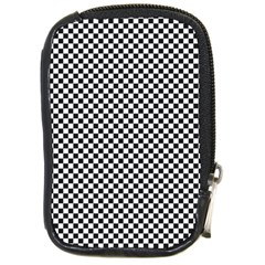 Sports Racing Chess Squares Black White Compact Camera Cases by EDDArt