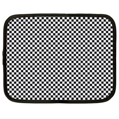 Sports Racing Chess Squares Black White Netbook Case (xxl)  by EDDArt