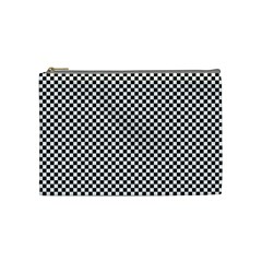 Sports Racing Chess Squares Black White Cosmetic Bag (medium)  by EDDArt