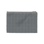 Sports Racing Chess Squares Black White Cosmetic Bag (Medium)  Back