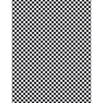 Sports Racing Chess Squares Black White Large Memo Pads 4.125 x5.5  Memopad