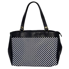 Sports Racing Chess Squares Black White Office Handbags by EDDArt