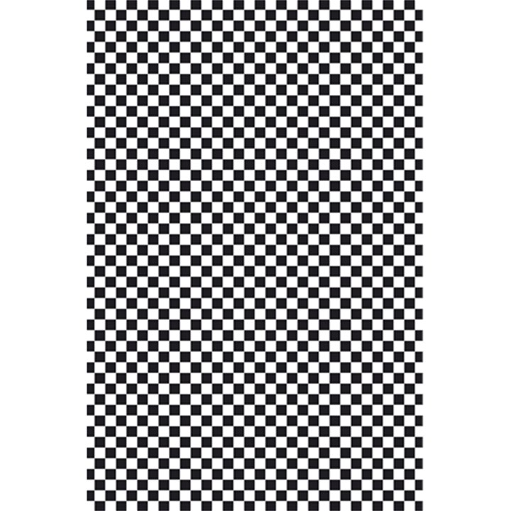 Sports Racing Chess Squares Black White 5.5  x 8.5  Notebooks