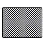 Sports Racing Chess Squares Black White Fleece Blanket (Small) 50 x40 Blanket Front