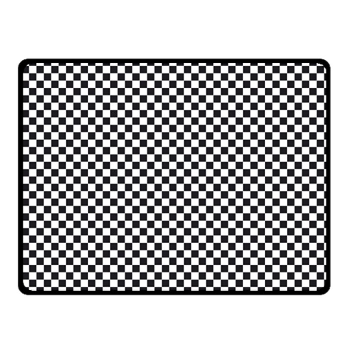Sports Racing Chess Squares Black White Fleece Blanket (Small)