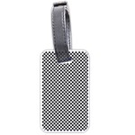 Sports Racing Chess Squares Black White Luggage Tags (Two Sides) Back