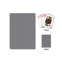 Sports Racing Chess Squares Black White Playing Cards (mini)  by EDDArt