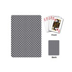 Sports Racing Chess Squares Black White Playing Cards (Mini)  Back