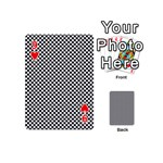 Sports Racing Chess Squares Black White Playing Cards 54 (Mini)  Front - Heart9