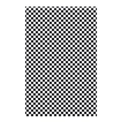 Sports Racing Chess Squares Black White Shower Curtain 48  X 72  (small)  by EDDArt