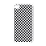 Sports Racing Chess Squares Black White Apple iPhone 4 Case (White) Front