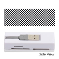 Sports Racing Chess Squares Black White Memory Card Reader (stick)