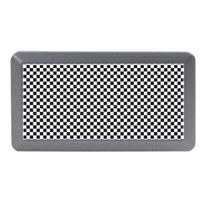 Sports Racing Chess Squares Black White Memory Card Reader (Mini)