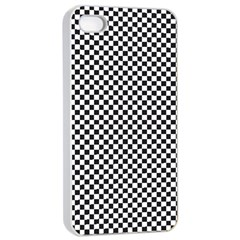 Sports Racing Chess Squares Black White Apple Iphone 4/4s Seamless Case (white)