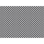 Sports Racing Chess Squares Black White YOU ARE INVITED 3D Greeting Card (7x5) Back