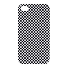 Sports Racing Chess Squares Black White Apple Iphone 4/4s Hardshell Case