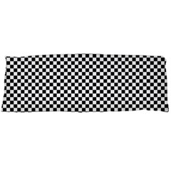 Sports Racing Chess Squares Black White Body Pillow Case Dakimakura (two Sides) by EDDArt