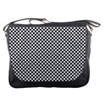 Sports Racing Chess Squares Black White Messenger Bags Front