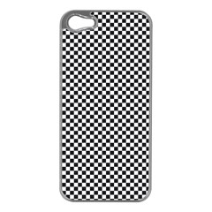 Sports Racing Chess Squares Black White Apple Iphone 5 Case (silver) by EDDArt