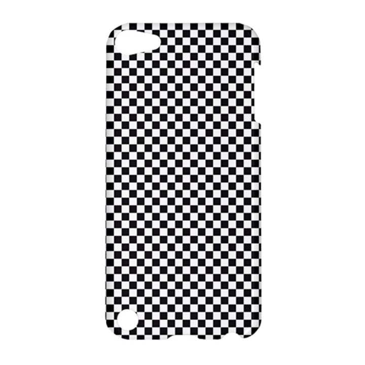 Sports Racing Chess Squares Black White Apple iPod Touch 5 Hardshell Case