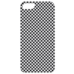 Sports Racing Chess Squares Black White Apple Iphone 5 Classic Hardshell Case by EDDArt