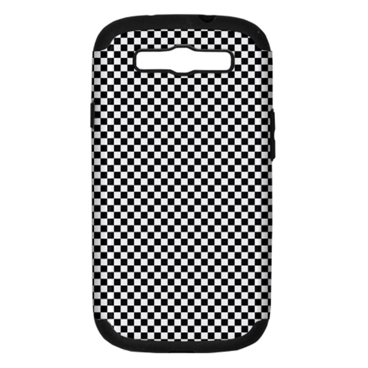 Sports Racing Chess Squares Black White Samsung Galaxy S III Hardshell Case (PC+Silicone)