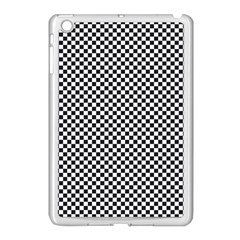 Sports Racing Chess Squares Black White Apple Ipad Mini Case (white)