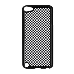 Sports Racing Chess Squares Black White Apple Ipod Touch 5 Case (black) by EDDArt