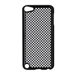 Sports Racing Chess Squares Black White Apple iPod Touch 5 Case (Black) Front