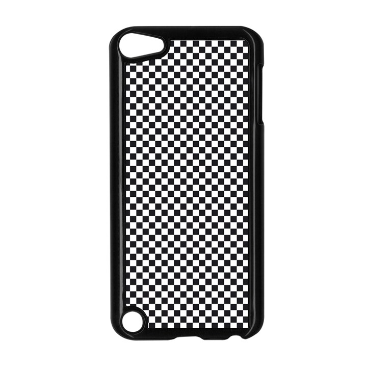 Sports Racing Chess Squares Black White Apple iPod Touch 5 Case (Black)