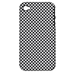 Sports Racing Chess Squares Black White Apple Iphone 4/4s Hardshell Case (pc+silicone) by EDDArt