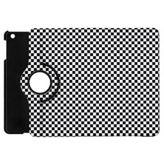 Sports Racing Chess Squares Black White Apple Ipad Mini Flip 360 Case by EDDArt