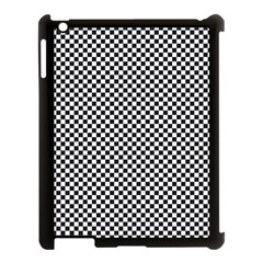 Sports Racing Chess Squares Black White Apple Ipad 3/4 Case (black) by EDDArt