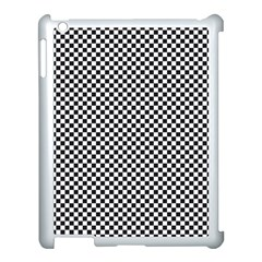 Sports Racing Chess Squares Black White Apple Ipad 3/4 Case (white)