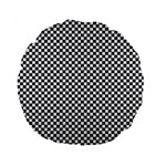 Sports Racing Chess Squares Black White Standard 15  Premium Round Cushions Front