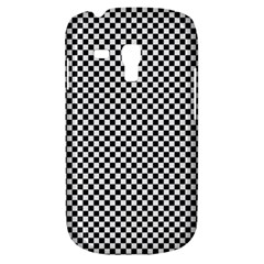 Sports Racing Chess Squares Black White Samsung Galaxy S3 Mini I8190 Hardshell Case by EDDArt