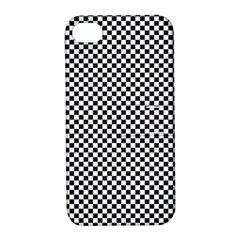 Sports Racing Chess Squares Black White Apple Iphone 4/4s Hardshell Case With Stand by EDDArt