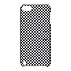 Sports Racing Chess Squares Black White Apple Ipod Touch 5 Hardshell Case With Stand