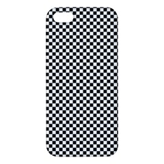 Sports Racing Chess Squares Black White Apple Iphone 5 Premium Hardshell Case by EDDArt