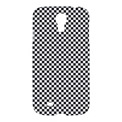 Sports Racing Chess Squares Black White Samsung Galaxy S4 I9500/i9505 Hardshell Case by EDDArt